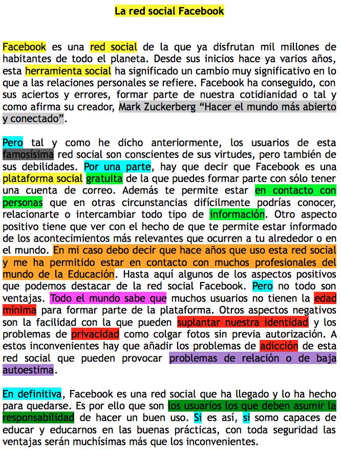 Ejemplo de texto argumentativo. Proceso de creación