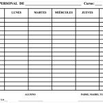 Actividad de tutoría: El horario personal