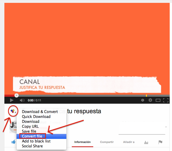 Descargar un video de youtube