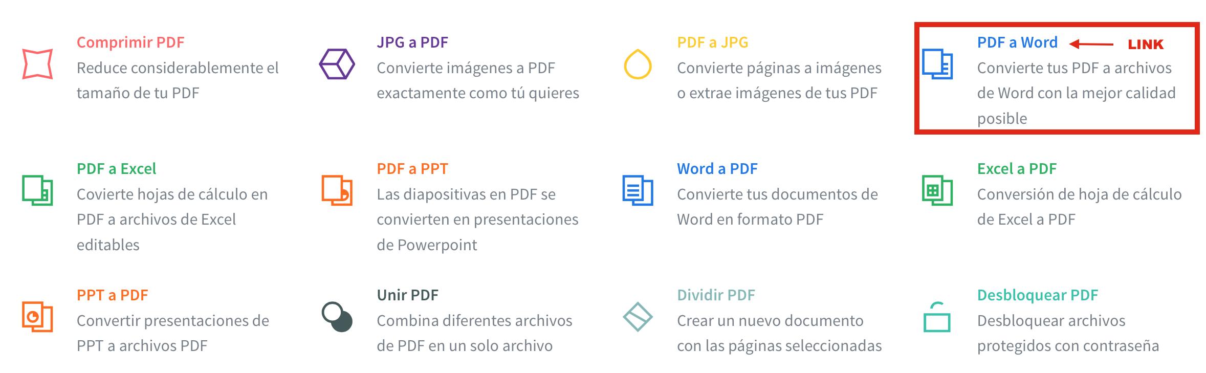 convertir un documento pdf a word gratis